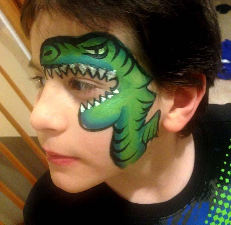 Olga Meleca Dragon Face Painting Dragons